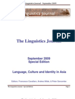 LINGUISTICS JOURNAL September-2009