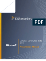 Exchange Server 2010 (Beta) - Student Manual