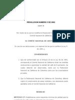 Resolucion 5 de 2002 (Calidades Exportacion) cafe
