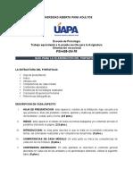 PORTAFOLIO COMO PRUEBA FINAL DE ORIENTACIÓN VOCACIONAL. PSI428-GV-70