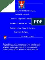 Gestion Calidad 2021 - Tema 4 - Calidad Total