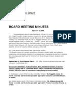 TMB Minutes February 6, 2009 Confirming Dr. Pigott's Oral Testimony