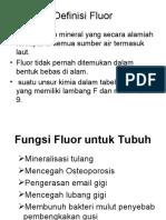 Definisi Fluor