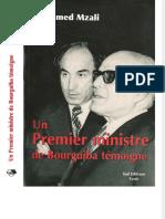 Mohamed Mzali Un premier ministre de Bourguiba témoigne