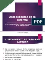 Antecedentes de La Reforma1