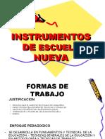 INSTRUMENTOS ESCUELA NUEVA.ESTELLA