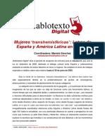 Call for Papers Revista Diablotexto 2020_Univ de Valencia_Coord Mariela Sanchez