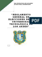 Reglamento General de Elecciones de La Universidad Tecnológica de Los Andes_junio_2021 Cu