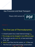 Gas Processes and Heat Transport