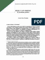 Fernández, A. G. - Hegel y los griegos
