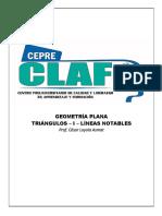 TEMA 03.5 - TRIÁNGULOS - I - LINEAS NOTABLES TEOREMAS