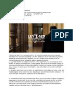 informe de la ley 1420