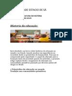 Universidade Estacio de Sá Historia Da Educação Rafael