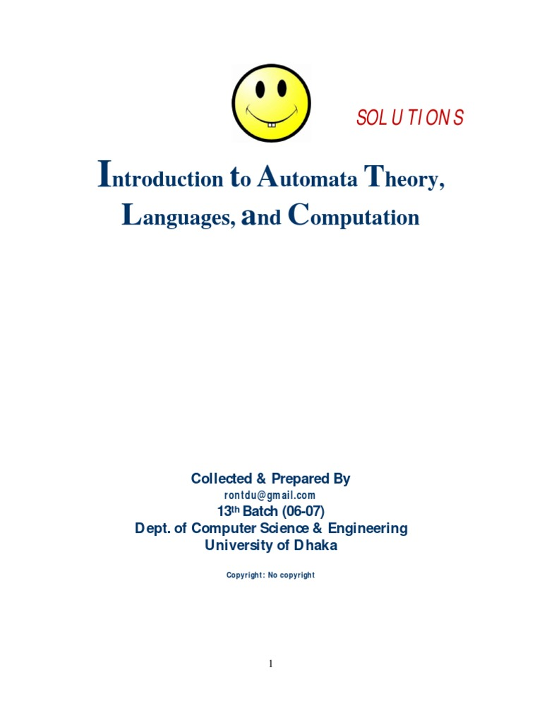 Solution-Introduction+to+Automata+Theory | Formalism (Deductive) | Grammar
