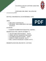 INFORME DEL PESO ESPECIFICO DE PARTICULAS SOLIDAS