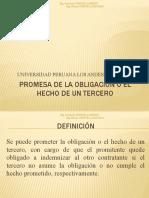 PROMESA DE LA OBLIGACIÓN O EL HECHO DE UN 3°