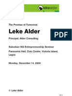 The Promise of Tomorrow - Leke Alder