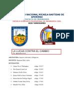 LUCHA CONTRA CAMBIO CLIMATICO