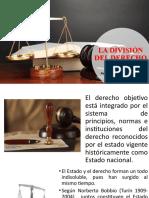 12.- La Division del derecho (publico-privado, objetivo-subjetivo,