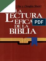 Gordon D. Fee - La Lectura Eficaz de La Biblia