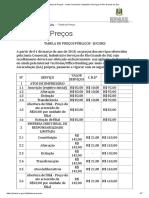 Tabela de Preços - Jucergs 2018