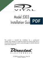 Avital 5303 Installation