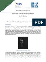 "Speak Truth To Power (""Courage without Borders"") Series - Wangari Maathai (Kenya) ""Women and the Environment"""