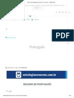 Resumo de Português para Provas e Concursos → [GRATUITO]