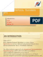 INTERNET PROTOCOL  TELEVISION-IPTV