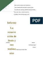 TESTIMONIO HISTÓRICO Y BÍBLICO