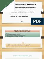 Políticas ambientales Ecuador -Legislación -GAMEN
