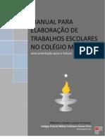 Manual para elaboração de trabalhos escolares-2010