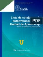 Lista de Cotejo - Evaluación UA en línea