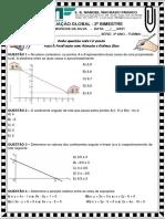 3º ANO - AVALIAÇÃO GLOBAL DE MATEMÁTICA - 2º BIMESTRE