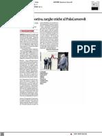Etica sportiva, targhe affisse al Palasport Alberto Carneroli di Urbino - Il Corriere Adriatico del 14 luglio 2021