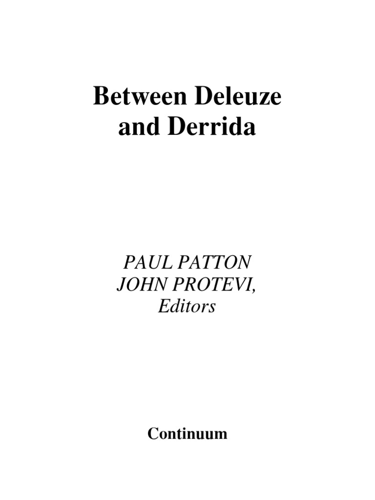 Between Deleuze And Derrida Essay Gilles Deconstruction 1969 Triumph Tympanium Wiring Diagram
