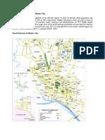 Road Network Pattern of Dhaka City