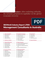 L7856 Management Consultants in Australia Industry Report