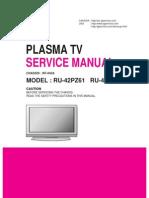 LG RU-42PZ61 42PZ71