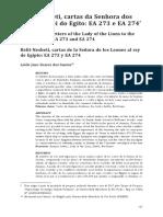 Belit-Nesheti, cartas da Senhora dos Leões ao rei do Egito EA 273 e EA 274