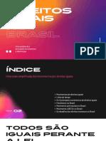 Apresentação Colorida Em Degradê de Movimentos Por Direitos Iguais No Brasil