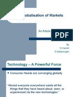 Globalisation of Markets