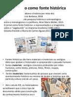 Jornalismo como fonte histórica