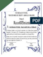 Diploma Francisco Recinos