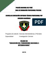 Silabus Evolucion Del Terrorismo Nacional e Internacional Ultimo