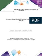 Unidad 2 - Tarea 2 - Trigonometría - Rúbrica de evaluación y entrega de la actividad