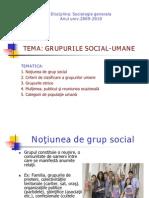 GRUPURILE SOCIALE