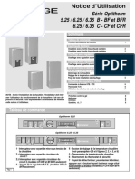 Notice Dutilisation Optitherm Serie i Mars 2000