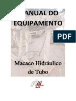 Manual Macaco hidráulico de tubo