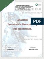 Analisis Teoria de La Mecatronica y Sus Aplicaciones